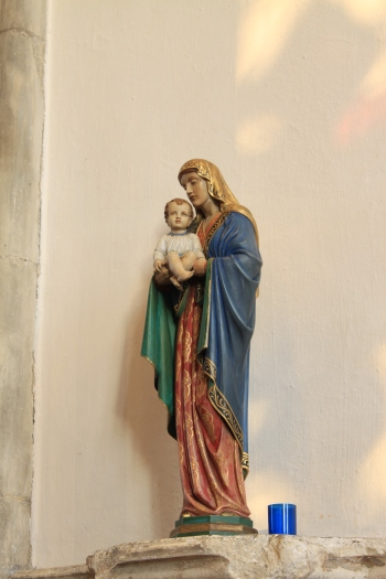Statue of the Blessed Virgin Mary in the Lady Chapel