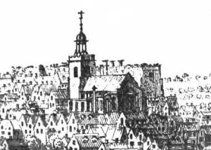 St James' from a 1741 engraving