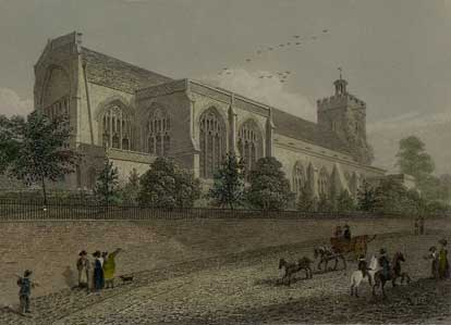 St James' from a 1824 engraving